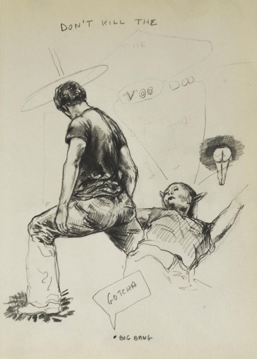 13. Karl Mechnig, 22 x 15 cm, potlood op papier. DSC 2917