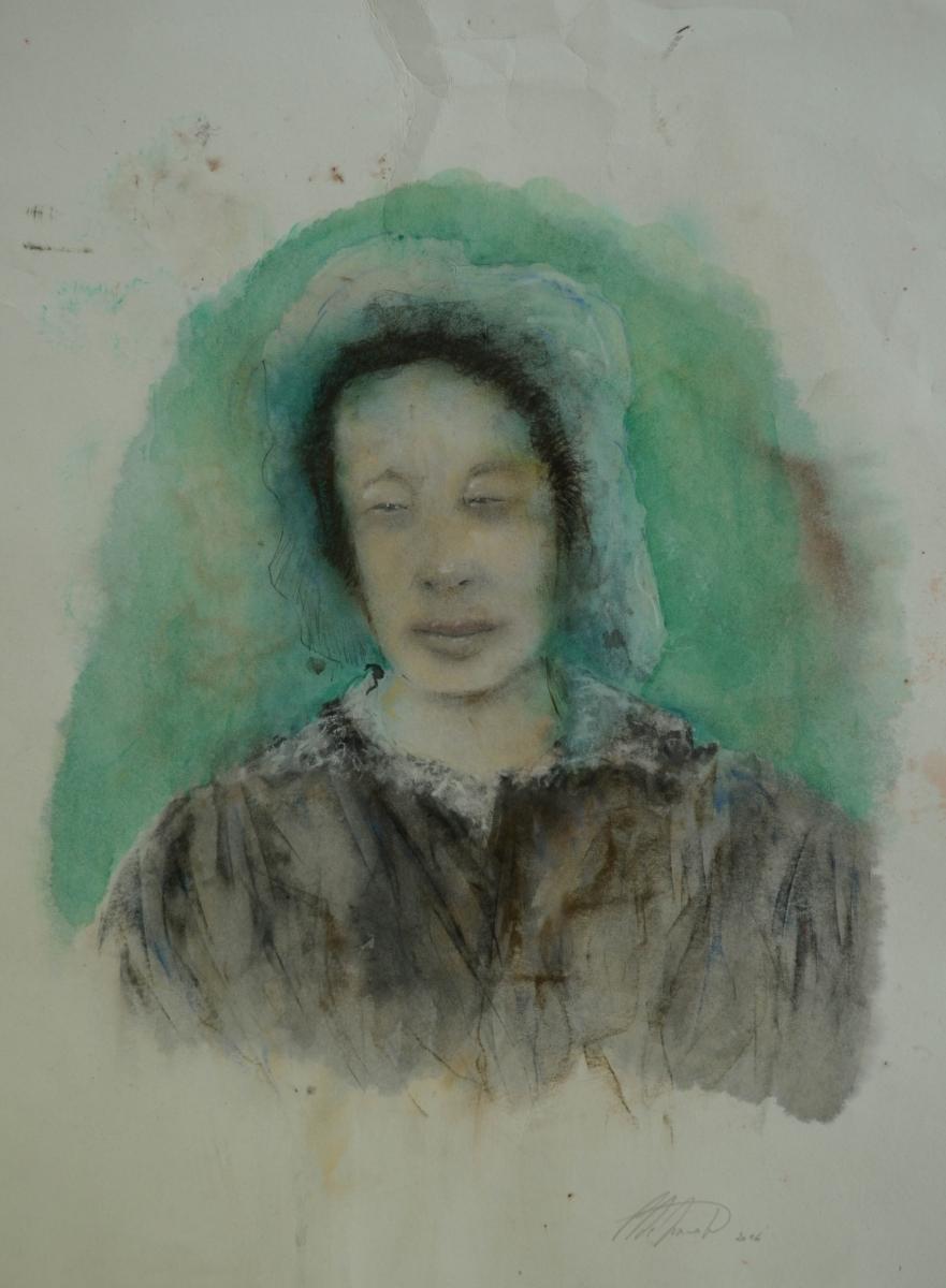 19. Pierre Desmedt, 52 x 40 cm, waterverf en pastel op papier. DSC 2944
